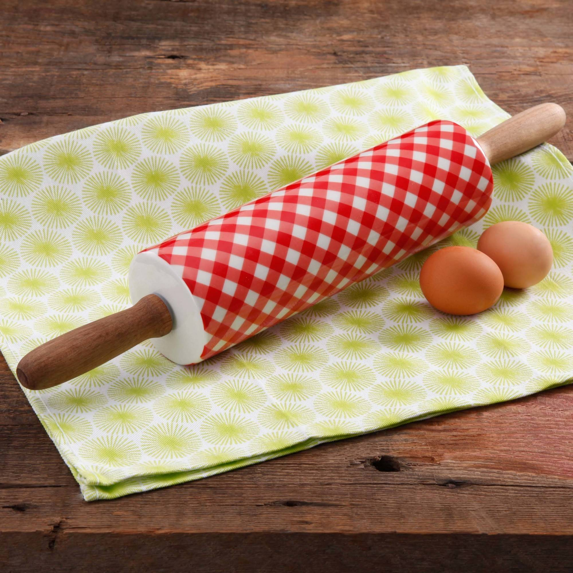 The Pioneer Woman Charming Check Rolling Pin