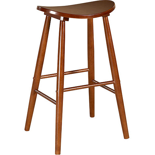 Curve Stool-Color:Oak,Seat Height:24""