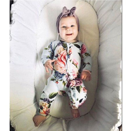 Newborn Infant Baby Girl Outfits Clothes Set Romper Bodysuit Long Pants Leggings