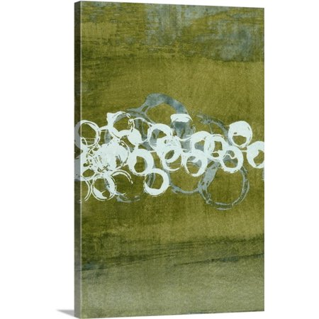 Great BIG Canvas Charles McMullen Premium Thick-Wrap Canvas entitled Green Orbs I