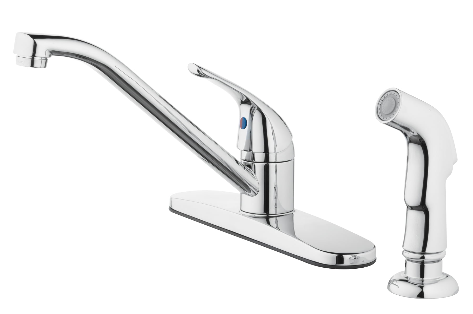 Mainstays 8 Widespread Single Handle Kitchen Faucet With Side Spray Chrome Walmart Com Walmart Com