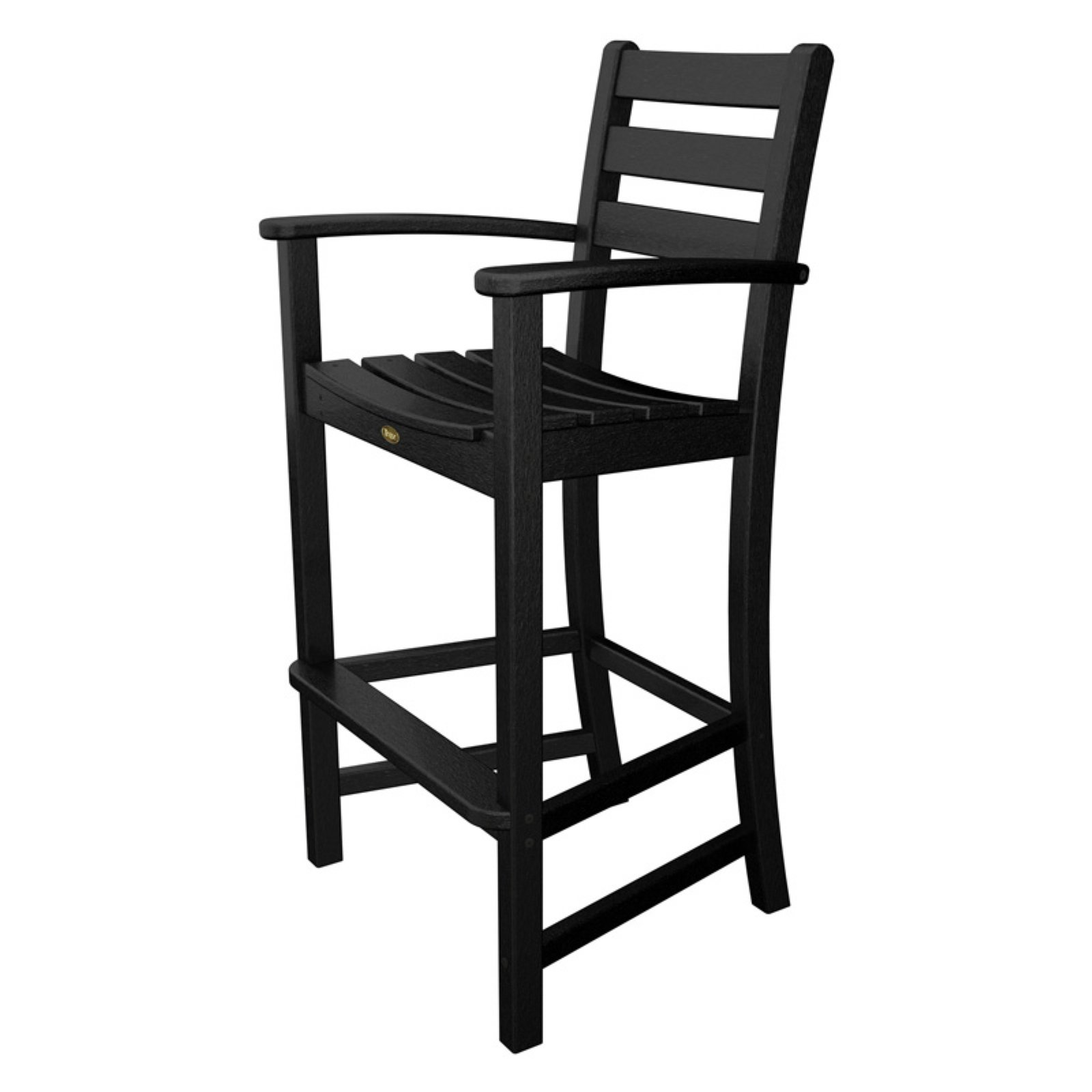 Trex Outdoor Furniture Recycled Plastic Monterey Bay Bar Height Arm Chair