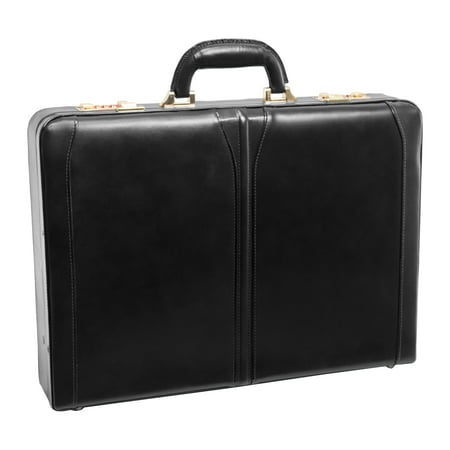 McKlein LAWSON, Attaché Briefcase, Top Grain Cowhide Leather, Black (80455)