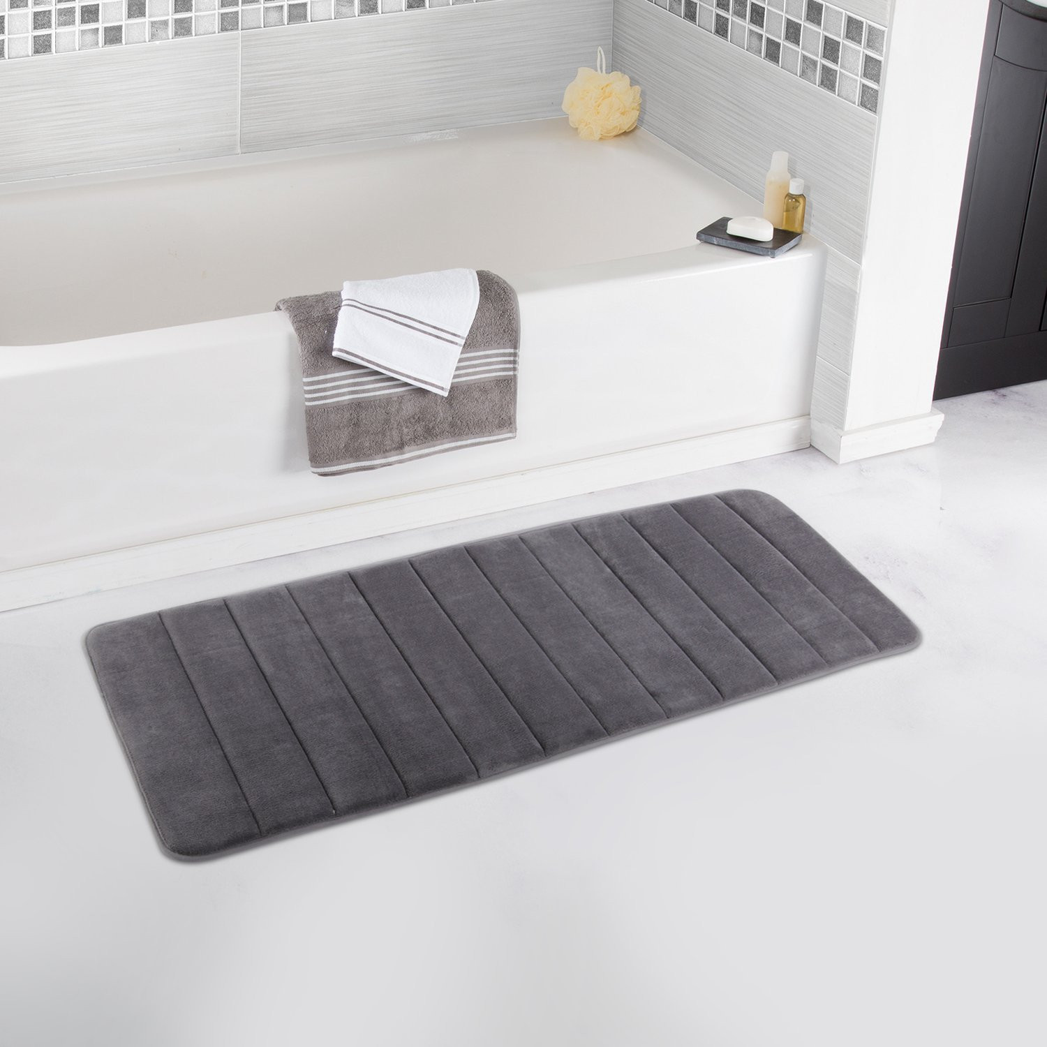 Lifewit 47 X 17 Bath Runner Rug Mat Extra Long Soft Memory Foam
