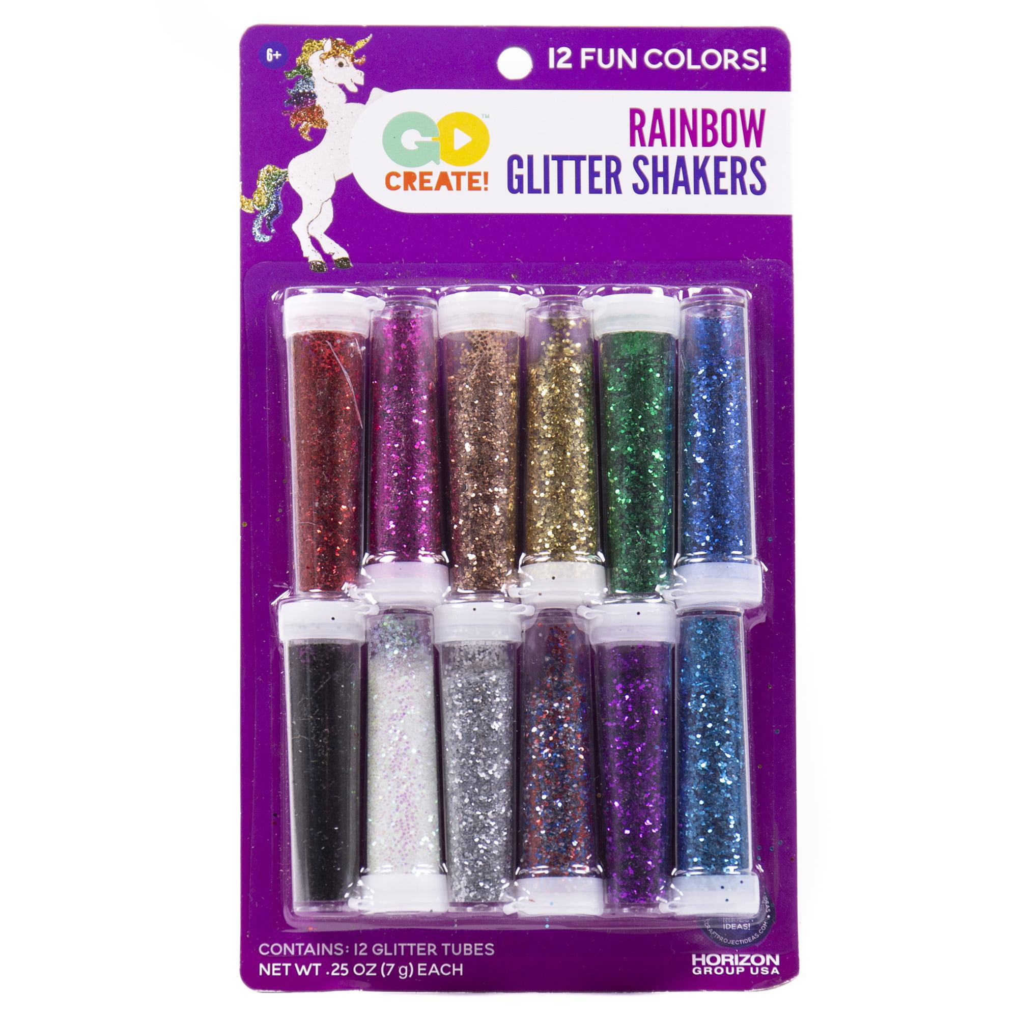 Go Create Glitter Shaker Tubes, 12 Piece
