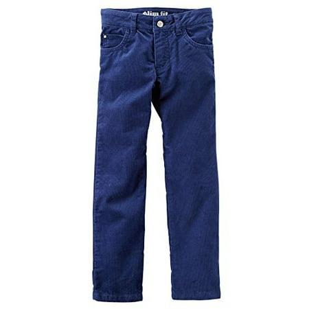 Little Girls' Slim Stretch Adjustable Waist Corduroy Pants; Navy, (Old Navy Girls Corduroy)