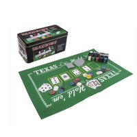Sport Gaming Set Texas Holdem Poker Casino Theme with Play Mat