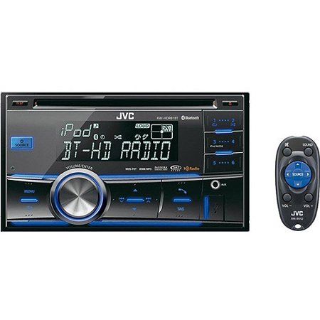 jvc kw hdr81bt 2 din car cd receiver with bluetooth. Black Bedroom Furniture Sets. Home Design Ideas