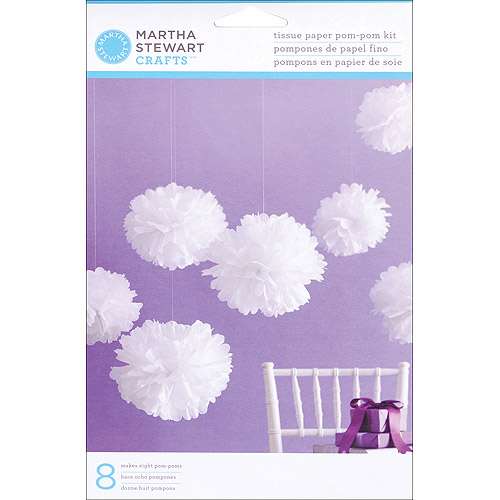 Tissue Paper Pom Pom Kit-Medium White
