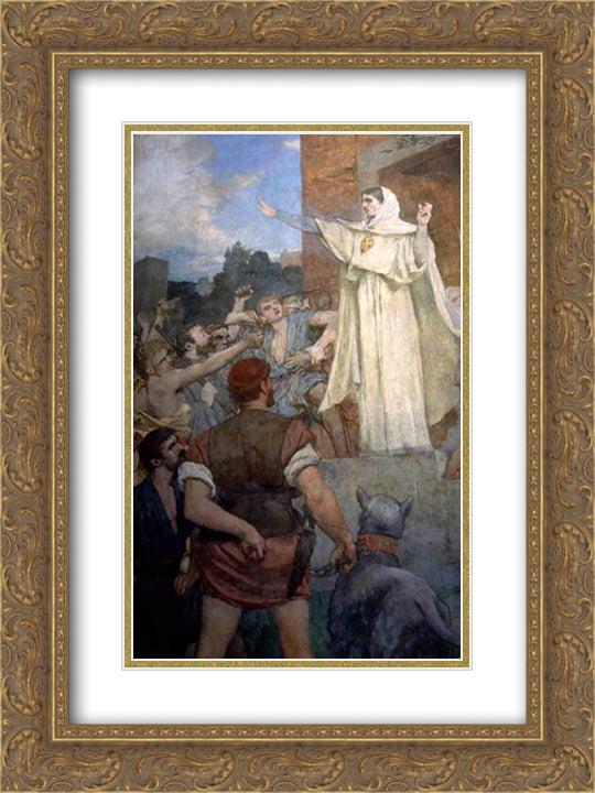 Pierre Puvis De Chavannes Fantasy Cropped Art Print Framed 12x16