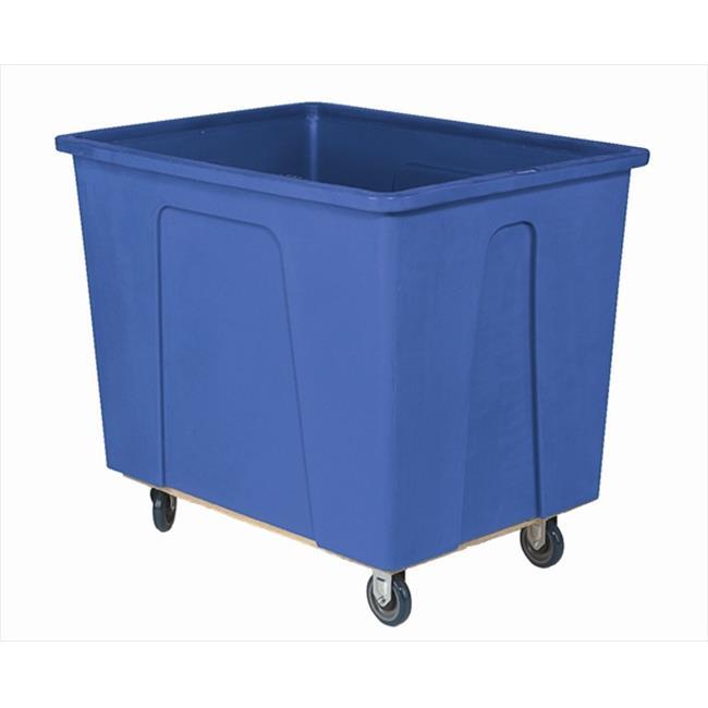 Wesco 272536 24 inch W x 33. 75 inch H x 35 inch D Blue Plastic Bo x Truck