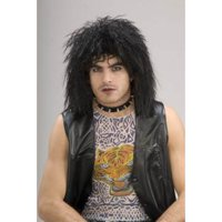 Unisex 80's Rock Star Wig Adult