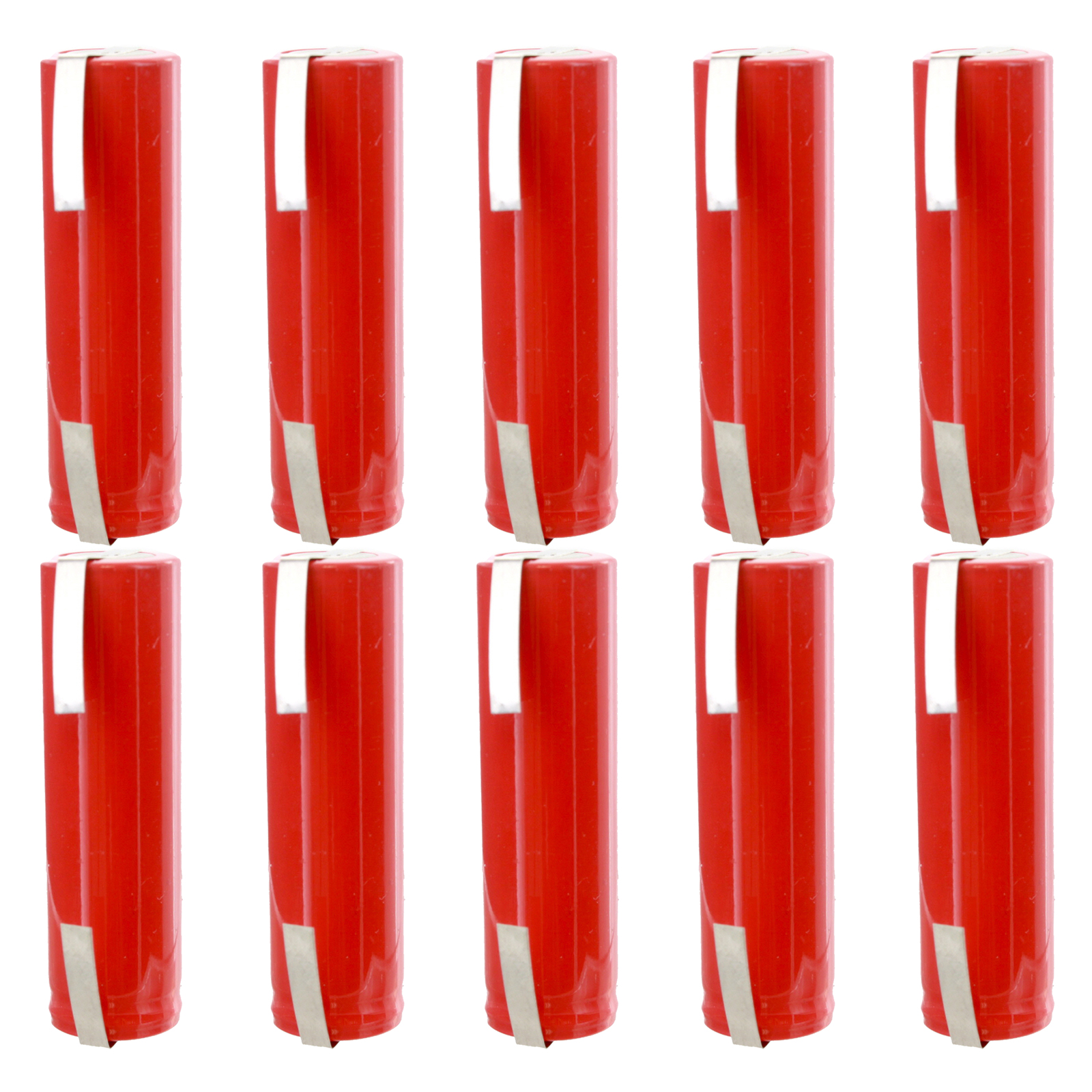 10pc AA 1.2V 1000mAh NiCD Rechargeable Assembly Cell Battery with Tabs