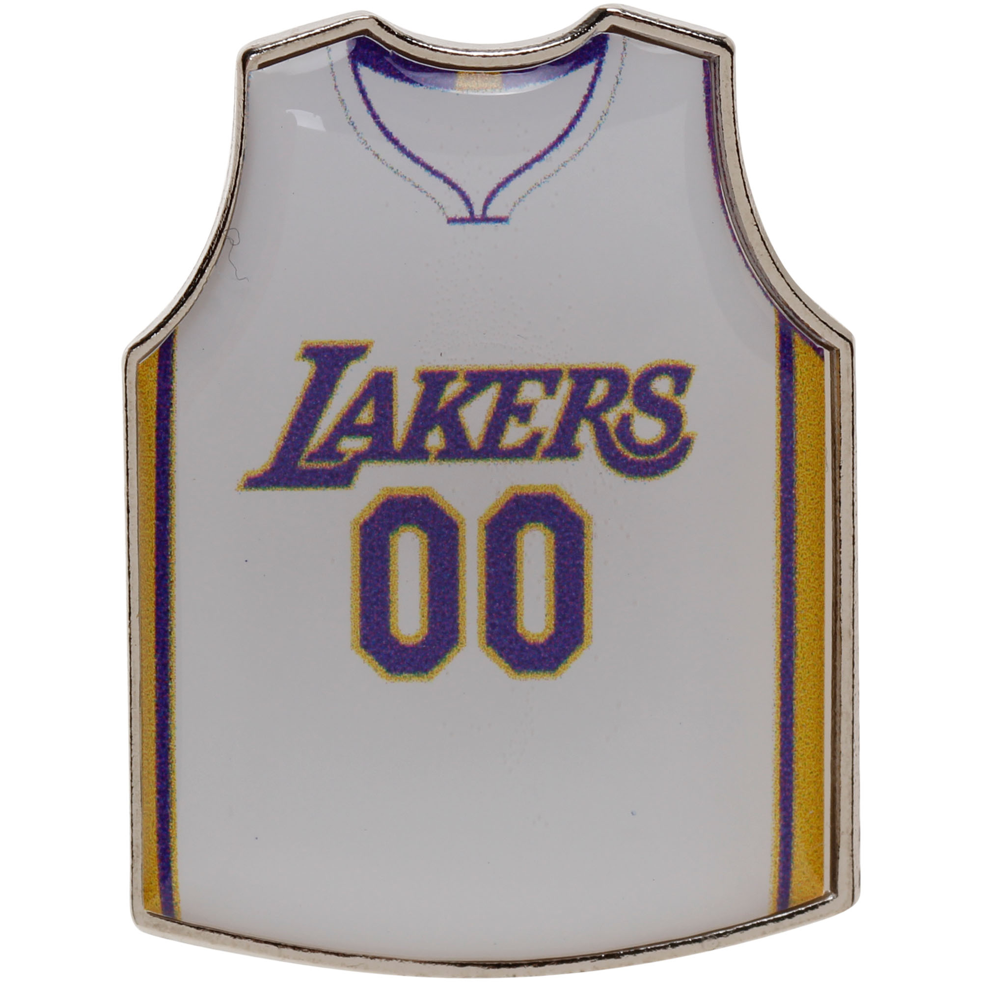 Los Angeles Lakers Alternate Jersey Pin - White - No Size