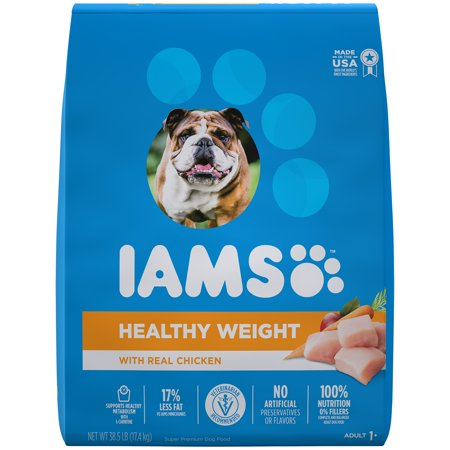 IAMS PROACTIVE HEALTH Adult Healthy Weight Dry Dog Food Chicken, 38.5 lb. Bag (Healthy Dog)