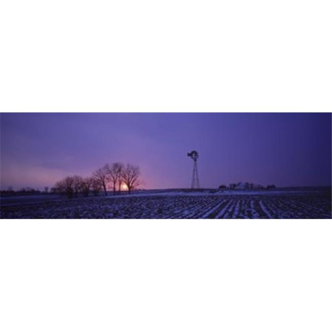 Panoramic Images PPI124596L Windmill in a field  Illinois  USA Poster Print by Panoramic Images - 36 x 12 - image 1 of 1