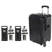 "Rockville 10"" Portable YouTube Bluetooth Karaoke Machine/System+(3) Microphones"