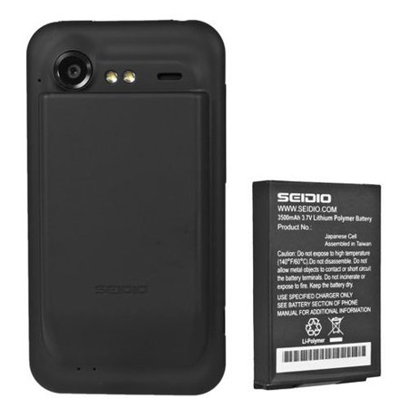 Seidio HTC Incredible 2/S Extended Battery with Back Cover Black