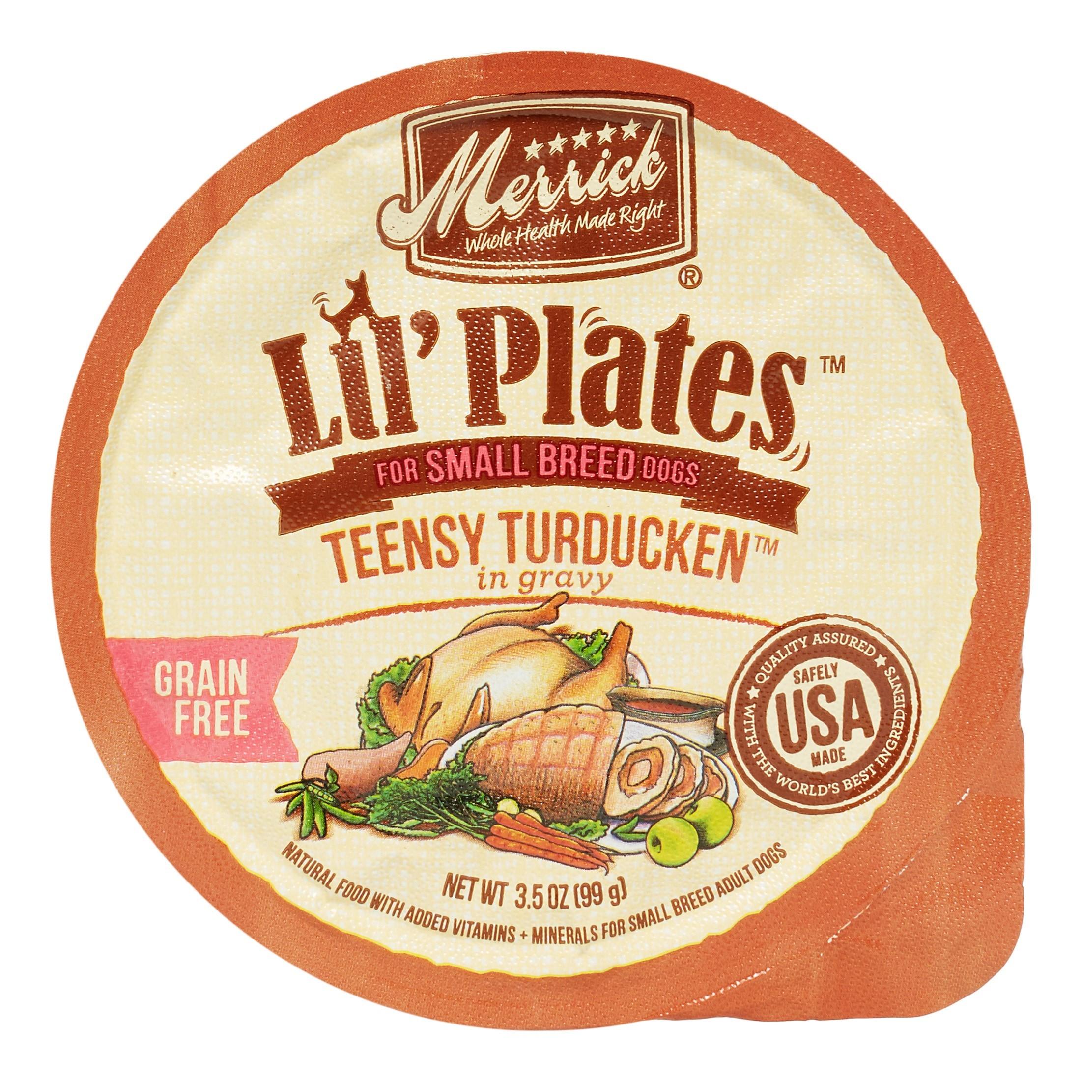 Merrick Lil' Plates Grain-Free Teensy Turducken Small Breed Wet Dog Food, 3.5 oz