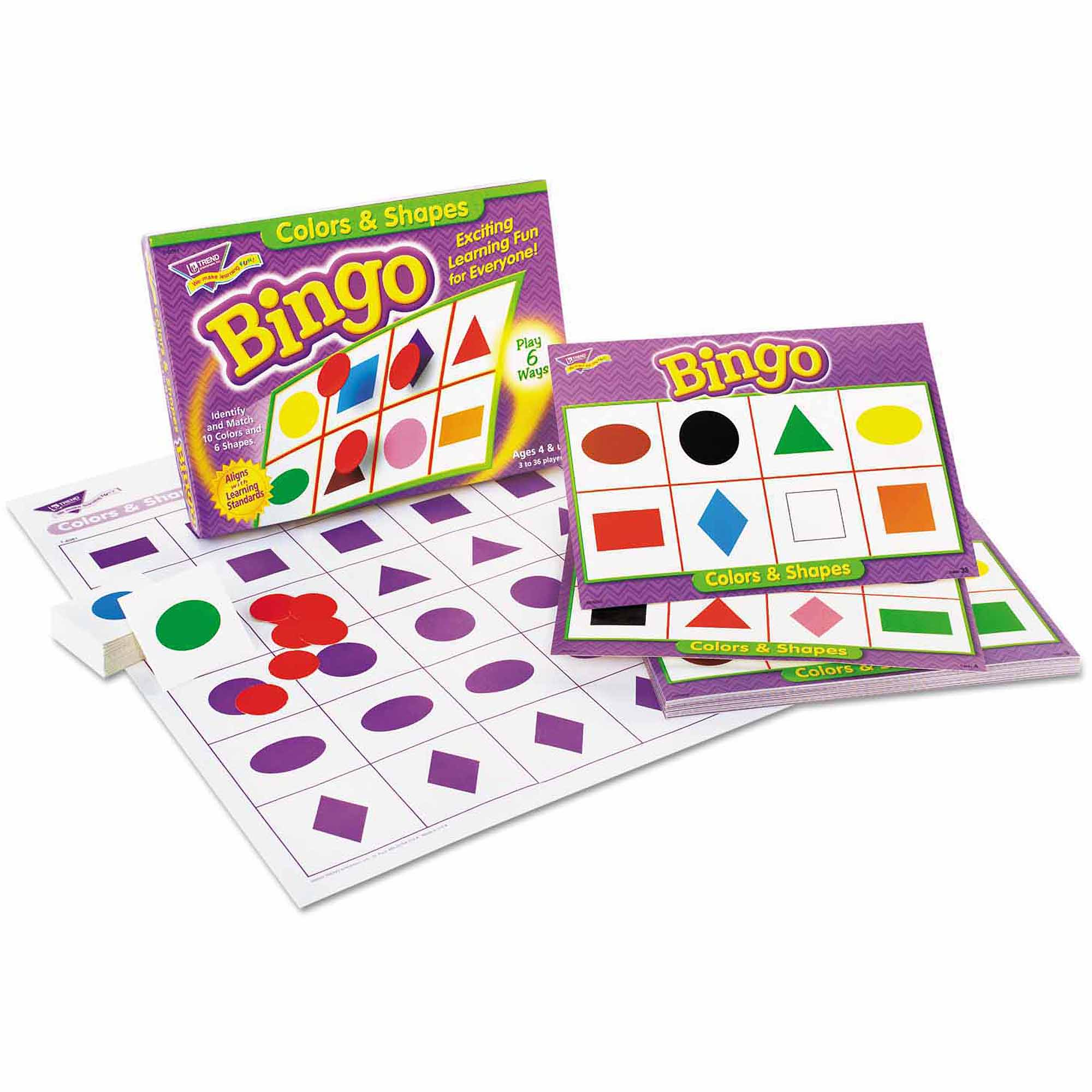TREND Young Learner Bingo Game, Shapes