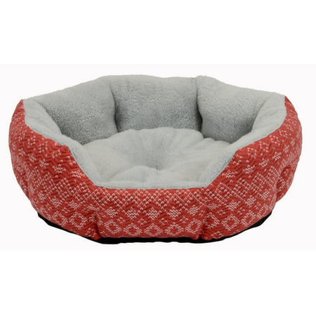 "Cozy Cuddler Dog & Cat Pet Bed, Small, 19"", Red"