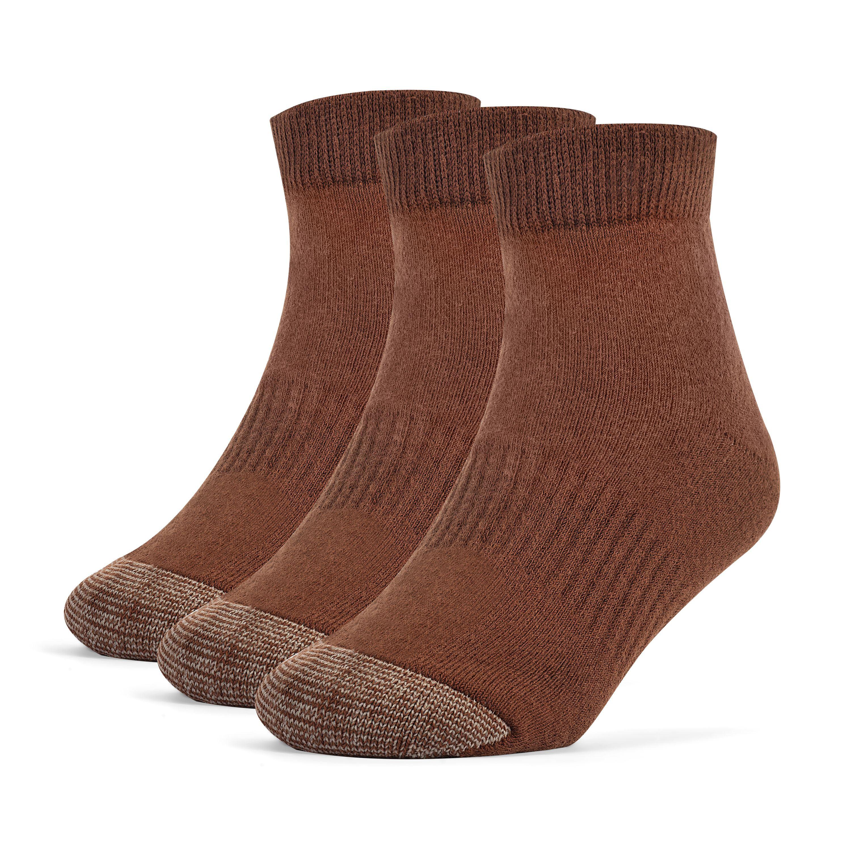 Galiva Boys' Cotton Extra Soft Ankle Cushion Socks - 3 Pairs