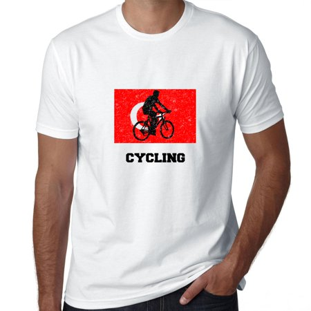 Turkey Olympic - Cycling - Flag - Silhouette Men's T-Shirt