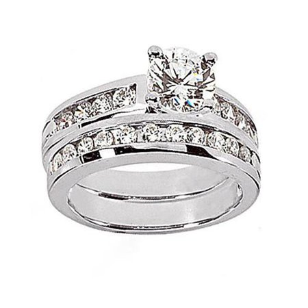Harry Chad HC11441-6 1.41 CT Diamonds Engagement Ring Set, Color F - VVS1 Clarity