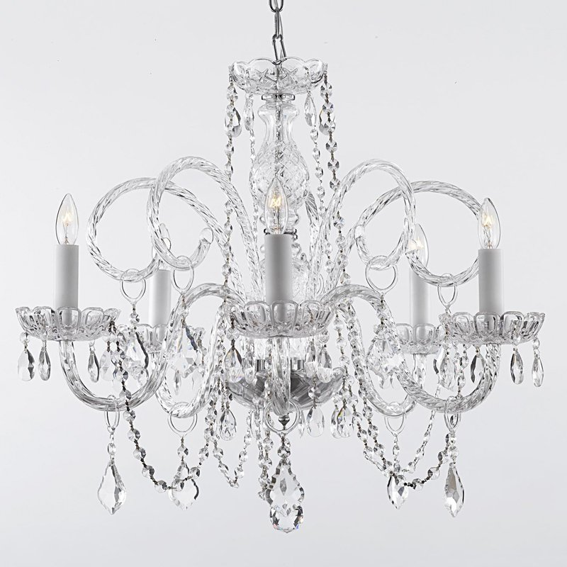 Click here to buy Empress Crystal 5 Light Venetian Style Chandelier by Harrison Lane.