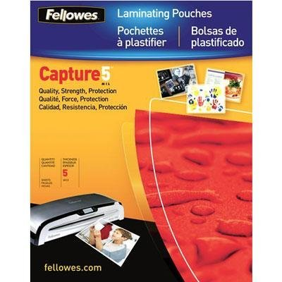 Fellowes Glossy SuperQuick Pouches - Letter, 5 mil