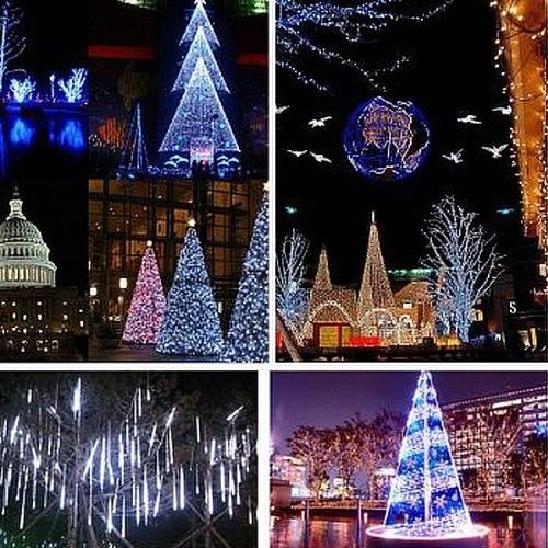 9.8 Feet X 9.8 Feet 300Led Fairy String Lights Curtain Lamp Outdoor Garden Party Wedding Christmas Xmas Decor Plug 110v