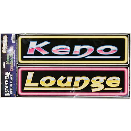 Keno & Lounge Peel & Place Signs