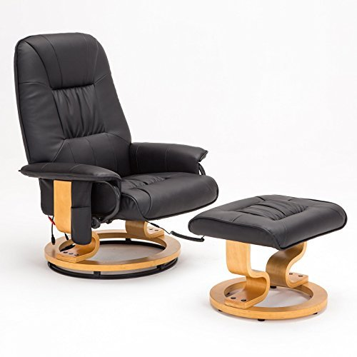 Uenjoy Real Leather Leisure Massage Recliner Chair Swivel Armchair w/Ottoman  sc 1 st  Walmart & Swivel Recliner Chairs islam-shia.org