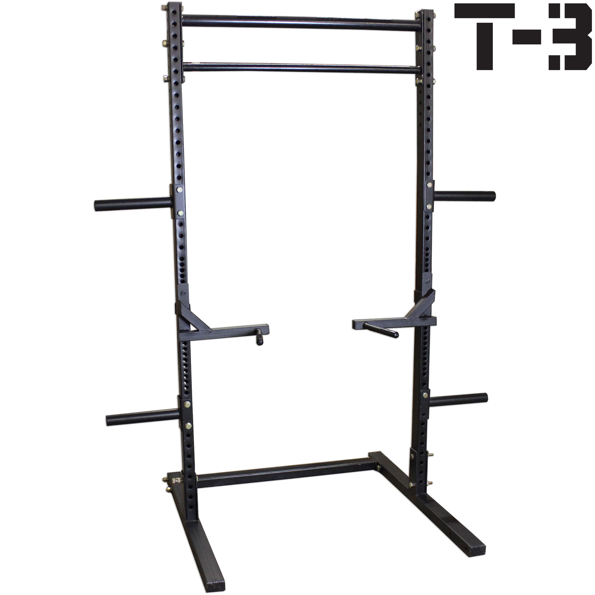 Titan T-3 Series Squat Rack w  Dip Bars Deadlift Weight Training Stand Pull-Up by Titan Fitness