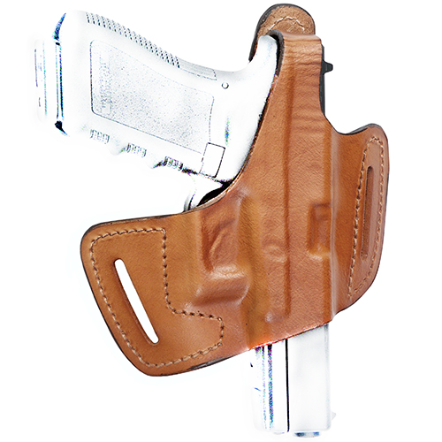 Frontline Fast Draw Belt Slide Leather Holster CZ 75, Brown, Right Hand