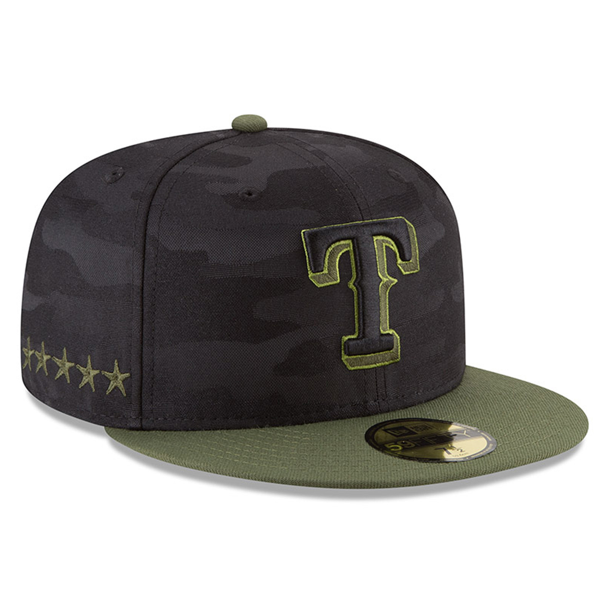 Texas Rangers New Era 2018 Memorial Day On-Field 59FIFTY Fitted Hat - Black