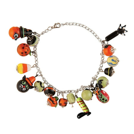 Artglass Halloween Spooky Charm Bracelet, 9-in., The Size is: 0.2x9x2 By GALLERIE II from USA