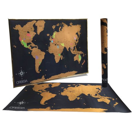 Deluxe scratch off world map includes precision scratch off tool deluxe scratch off world map includes precision scratch off tool and gift ready packaging gumiabroncs Gallery