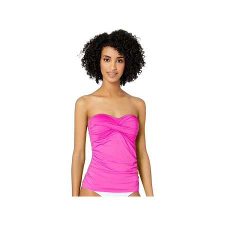 Classic Tankini Top (Anne Cole Crossover Mesh Trim One Piece Swimsuit)