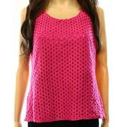 Laundry by Shelli Segal NEW Pink Women's Size Medium M Open-Knit Blouse