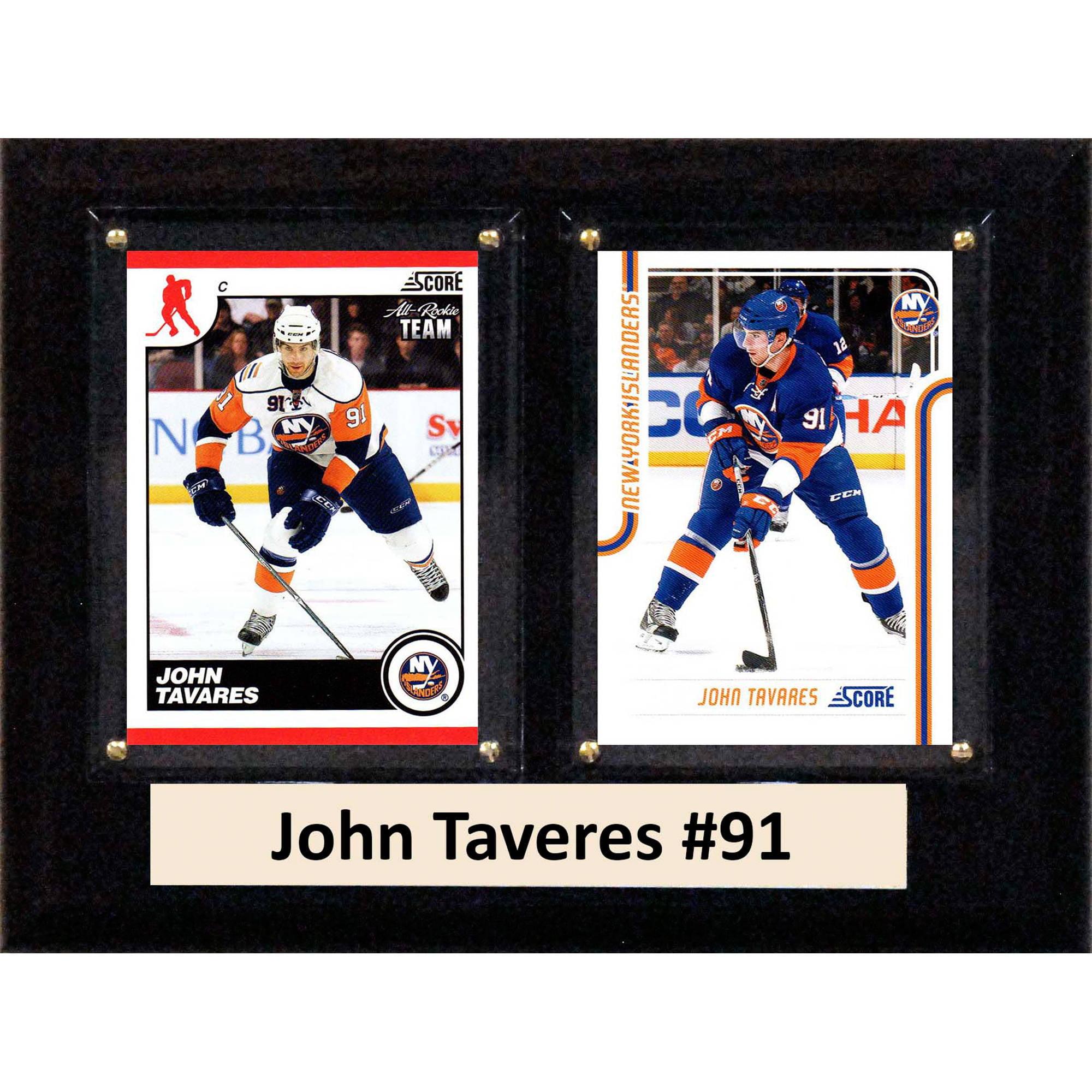 C&I Collectables NHL 6x8 John Taveres New York Islanders 2-Card Plaque