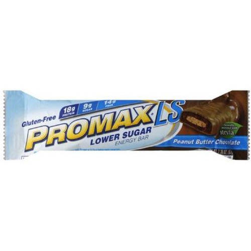 Promax Lower Sugar Peanut Butter Chocolate Energy Bar, 2.36 oz., (Pack of 6)