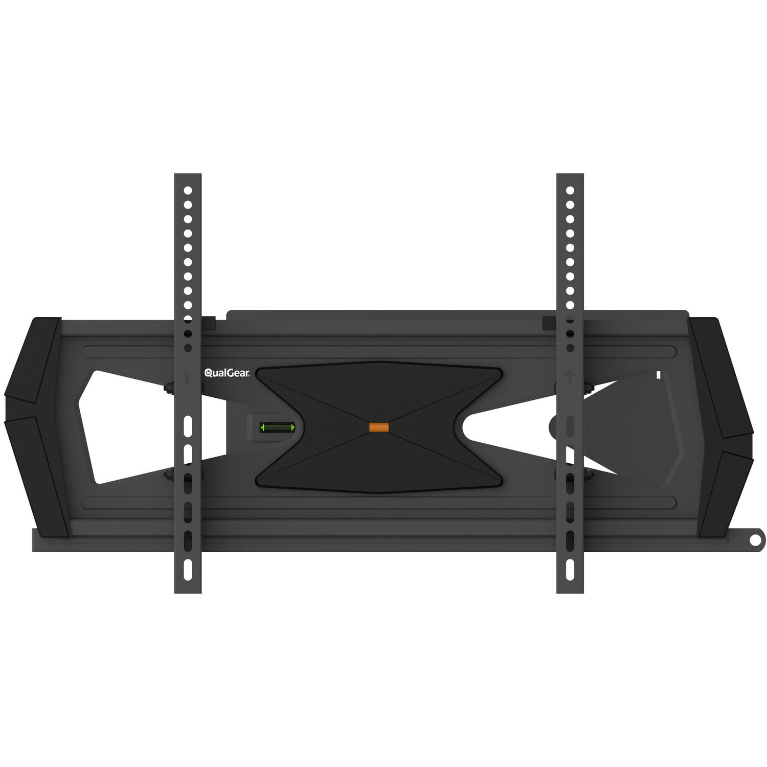 "QualGear Heavy-Duty Full Motion TV Wall Mount For Most 37""-70"" Flat Panel and Curved TVs, Black"