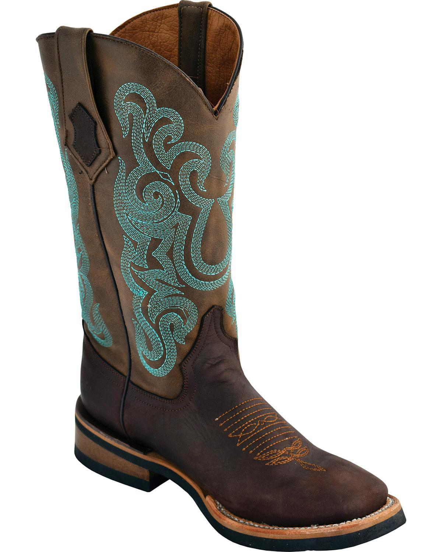 Ferrini Women's Square Maverick Dark Chocolate Cowgirl Boot Square Women's Toe - 85093-59 1acc8c