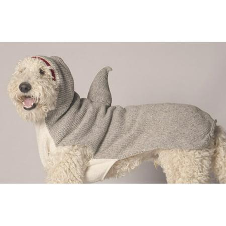 Chilly Dog Shark Hoodie Dog Sweater - Tan (Dog Shark Suit)