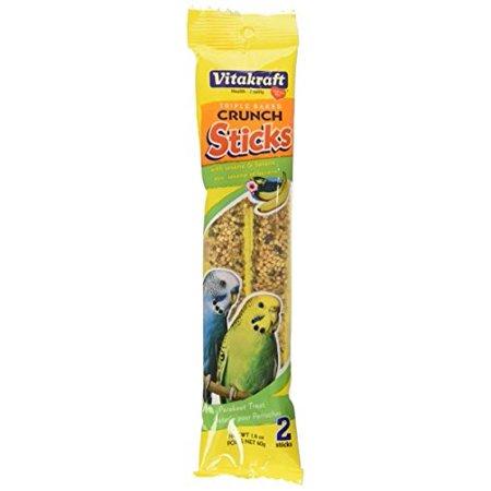 Vitakraft Parakeet Crunch Sticks w/Sesame & Banana Treat Sticks 2pk 1.4 oz.