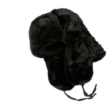 f5eee3f42f082 Winter hat with ear flaps. Russian ushanka trapper faux fur hat -  Walmart.com