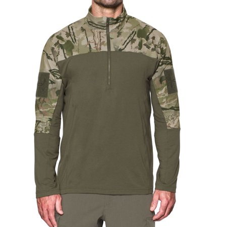 Under Armour 'Tac Combat 2.0' Mens Ridge Reaper Camo/Desert Sand Half Zip Sweatshirt Mens Air Tac Ridge