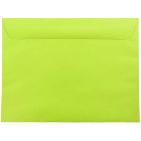 9x12 booklet 9 x 12 brite hue ultra lime green paper envelope 1000
