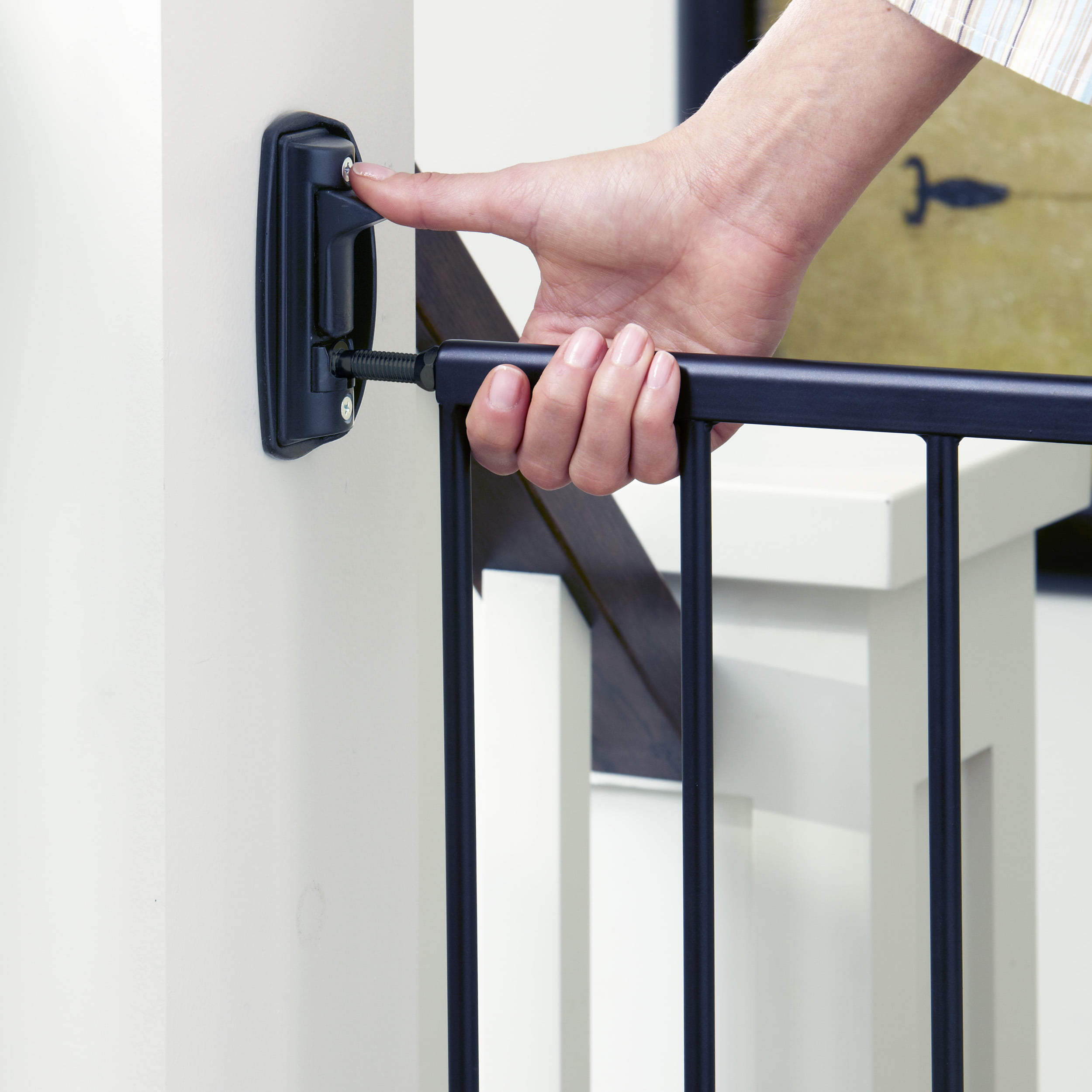 Toddleroo By North States Easy Swing And Lock Baby Gate 28 68 47 85 Wide Matte Bronze Walmart Com Walmart Com